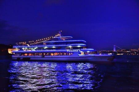 Турецкая ночь на Босфоре/Прогулка на корабле по ночному Босфору