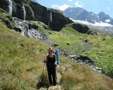 Птышское ущелье — водопад Девичьи Косы, ледник Птыш
