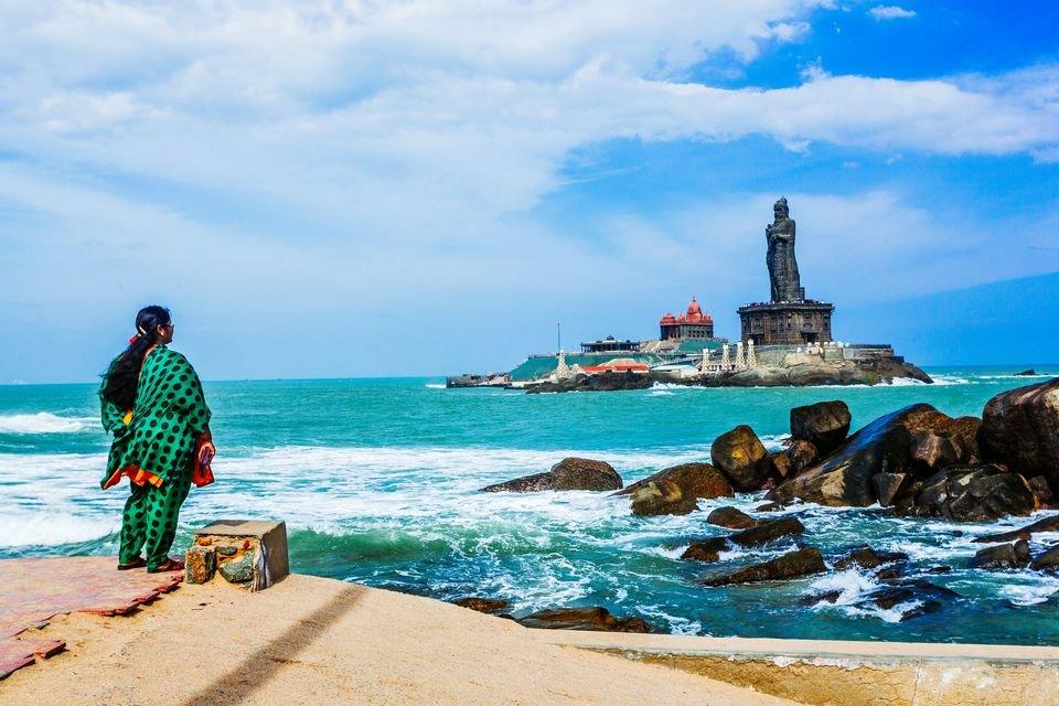 Самая южная точка Индии — Каньянкумари