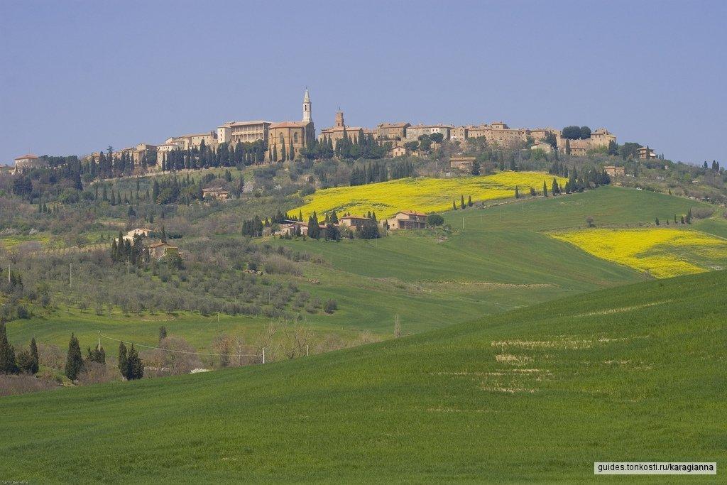 Солнечная провинциальная типичная Тоскана: Монтепульчано и Пьенца