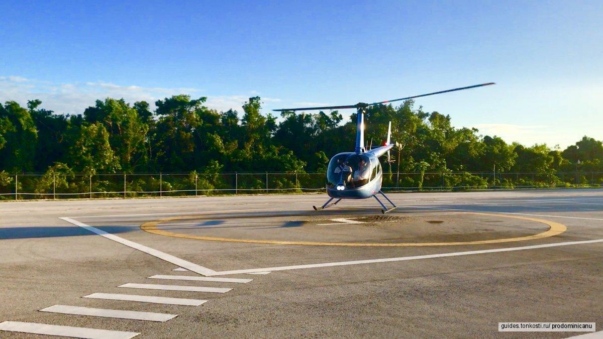 Полет на вертолете над Атлантикой