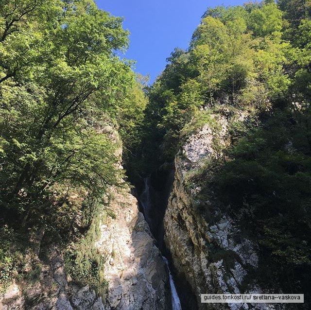 Башня горы Ахун и Агурские водопады