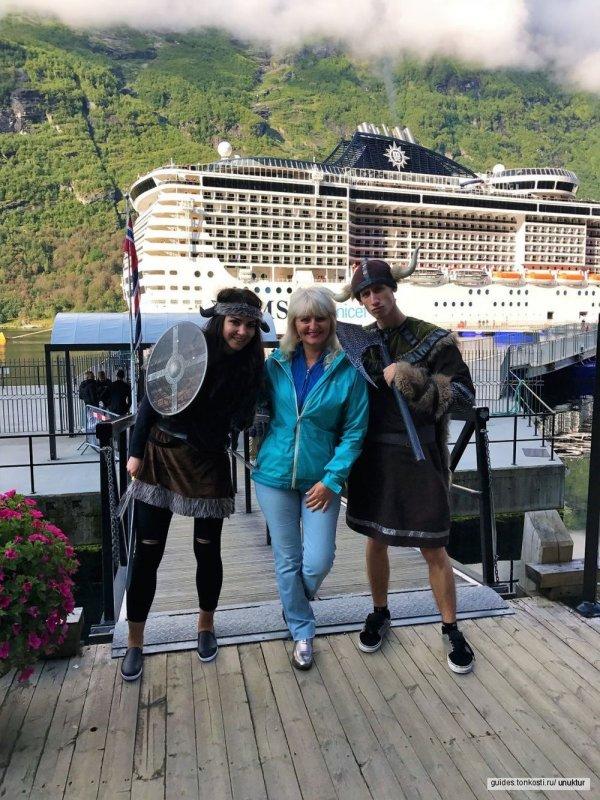 Береговые экскурсии для круизных пассажиров. Олесунн, Молде, Гейрангер, Нордфьорд,Олден,