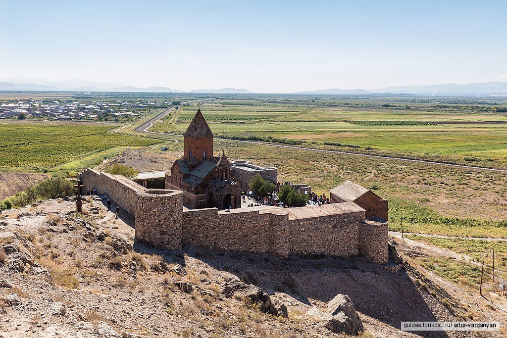Библейская гора Арарат, Хор Вирап, Эчмиадзин, Звартноц