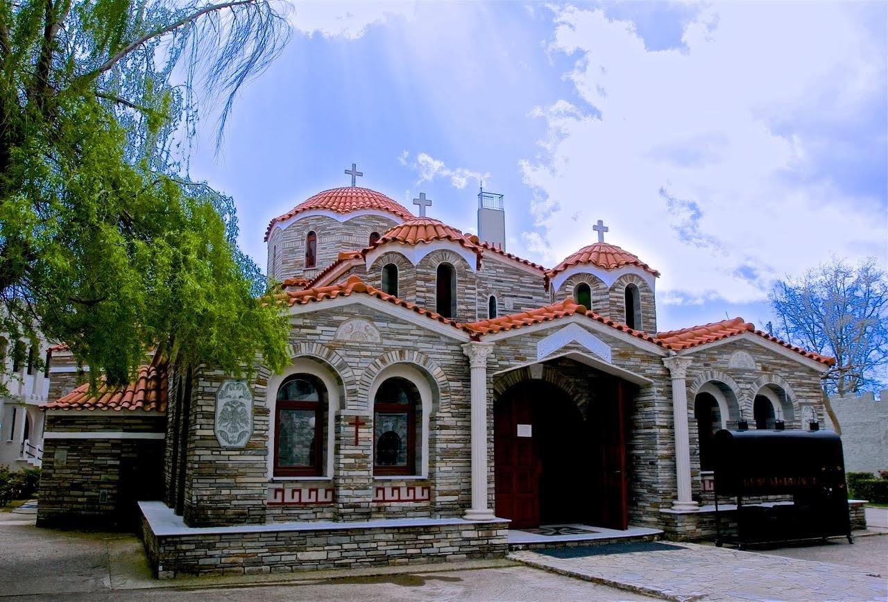 Нафпактос, монастырь Св. Августина и Серафима Саровского, мост Рио-Антирио