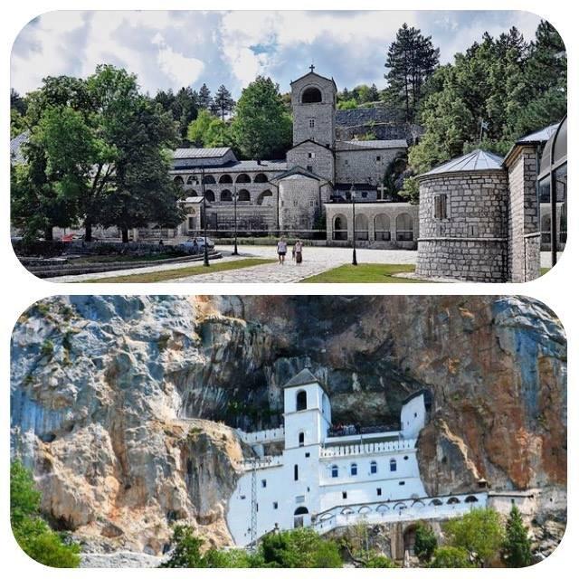 Монастырь Острог и Цетинский монастырь