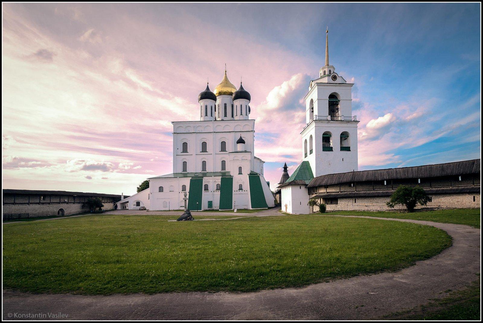 Кром — сердце Псковской древнерусской крепости