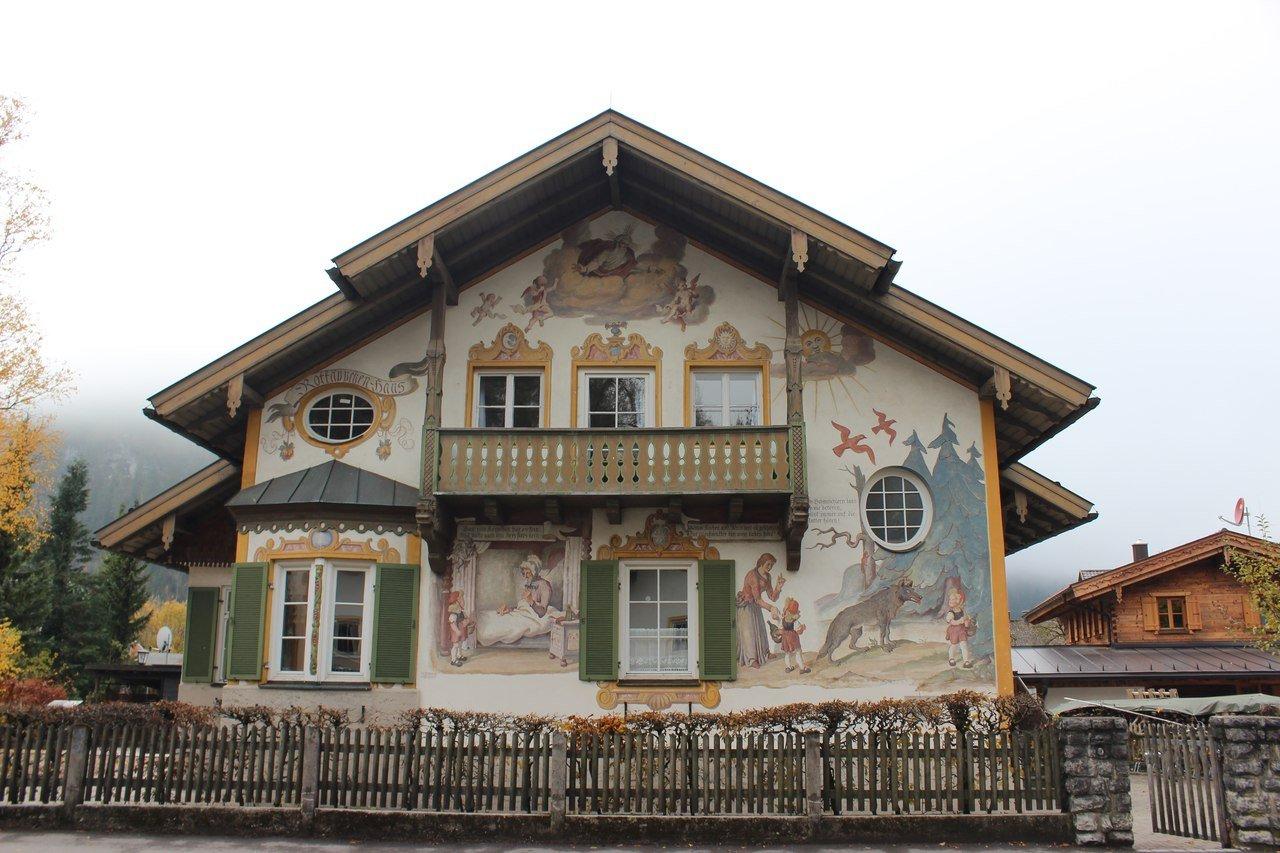 Баварская деревня. Эшенлое, Обераммергау, Унтераммергау, монастырь Этталь