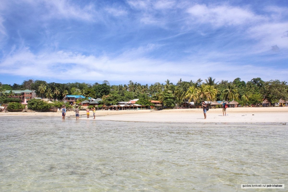 Пляжи острова Камотес