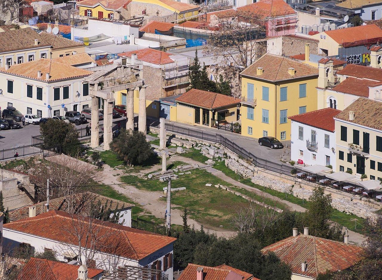 Плака (старый город Афин), Монастыраки, Башня Ветров…