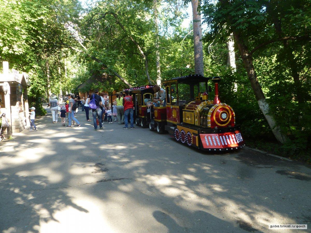 Поездка по детской железной дороге и посещение Новосибирского зоопарка