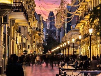 Вечерний Баку + Огненная гора Янардаг