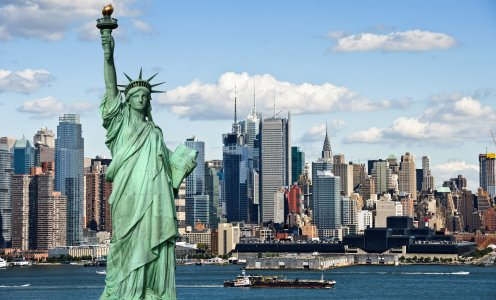 Нью-Йорк, Манхэттен — вертолетный тур