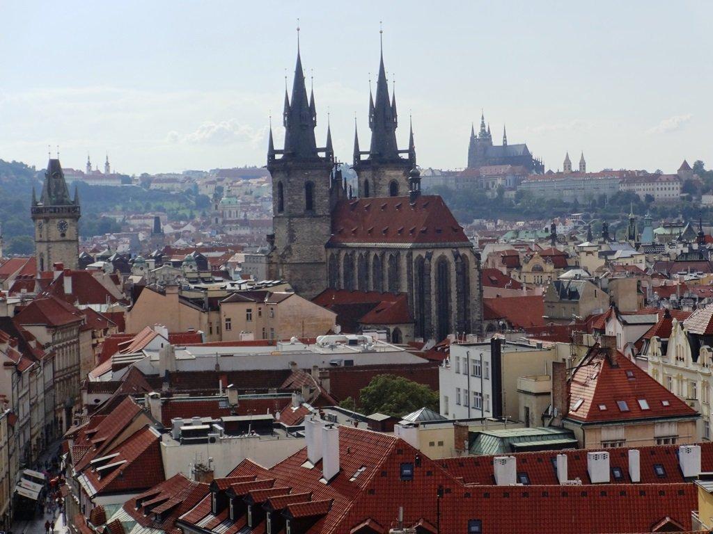 Средневековая Прага сверху вниз