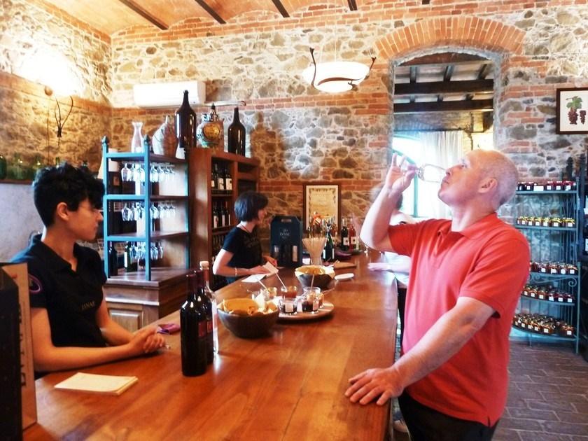 Дегустация на лигурийской винодельне
