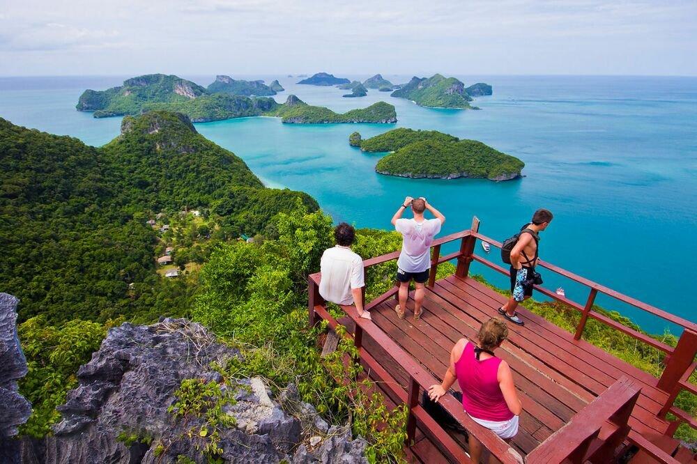 Ангтхонг — на туристическом корабле