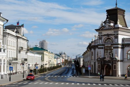 Улица Кремлевская и комплекс Казанского университета