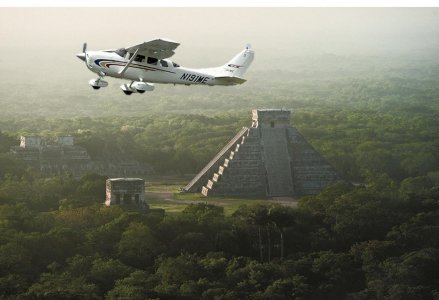 VIP Чичен-Ица на самолете