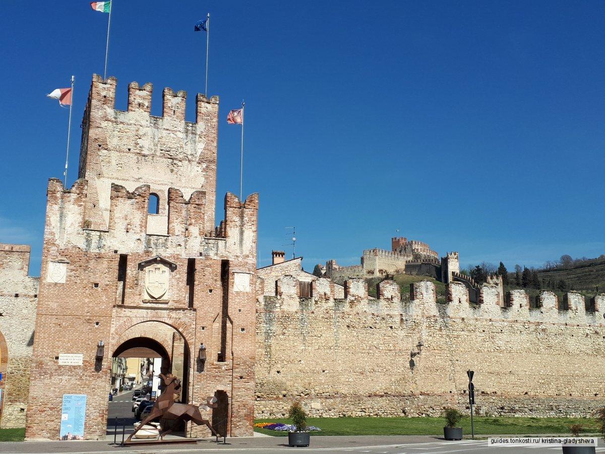 Средневековый городок Соаве и его старинный замок