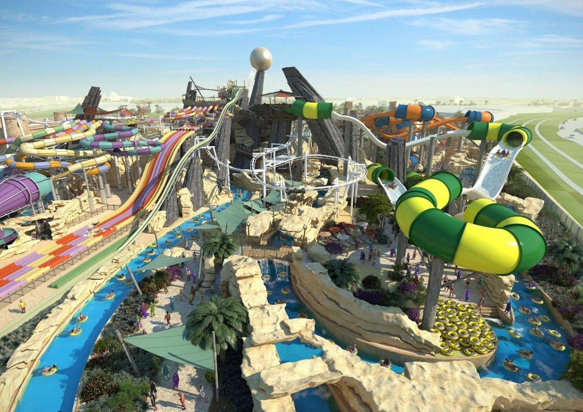 Тематический аквапарк Yas Waterworld