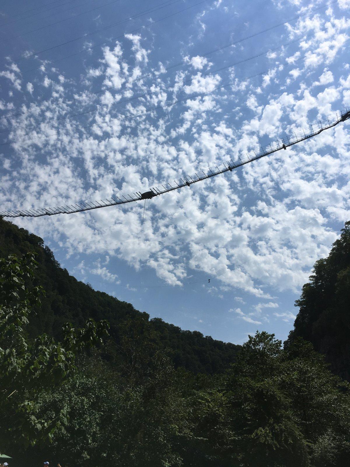 Приключение в Ахштырском ущелье (Скайпарк, форелевое хозяйство, шоу стеклодувов, пещера)