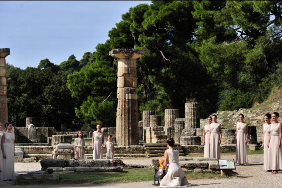 Олимпия — место зажжения олимпийского огня
