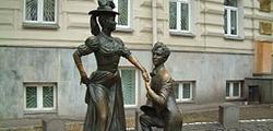 Памятник Проне Прокоповне и Голохвостому