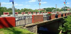 Красный мост в Полоцке