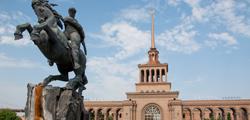 Памятник Давиду Сасунскому в Ереване