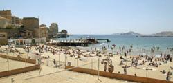 Пляж Дез-Каталань в Марселе