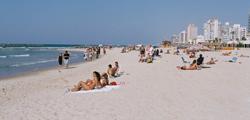 Пляжи Gordon и Frishman в Тель-Авиве