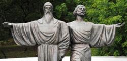 Памятник преподобным Афанасию и Феодосию