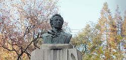 Памятник А. С. Пушкину в Шанхае