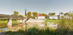 Красный мост в Вологде