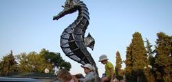 Скульптура «Морской конек» в Алуште