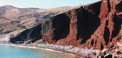 Чёрный пляж «Камари» и Красный пляж